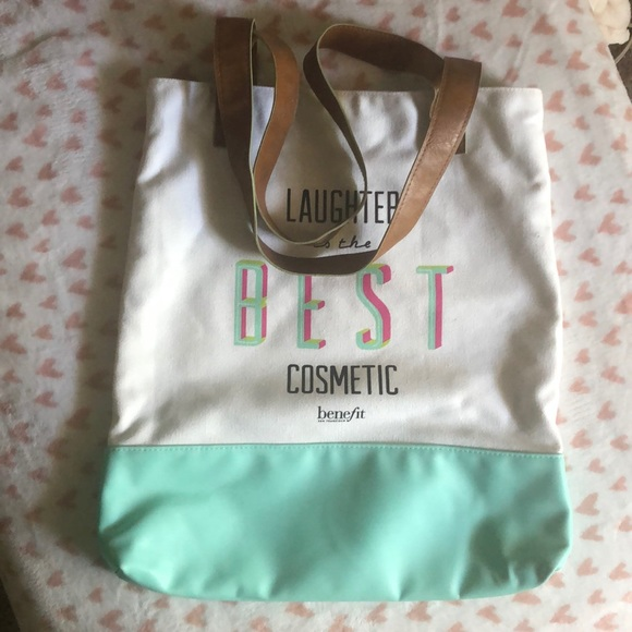 Benefit Handbags - Laughter is the best cosmetic tote bag by Benefit